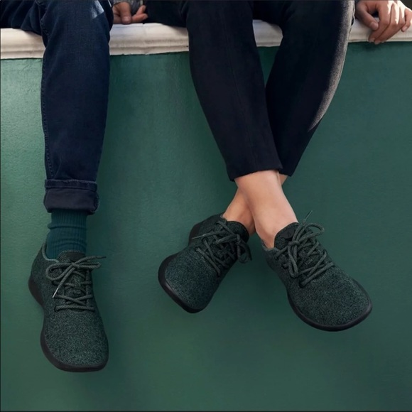 Allbirds Dark Green Wool Shoes Like New
